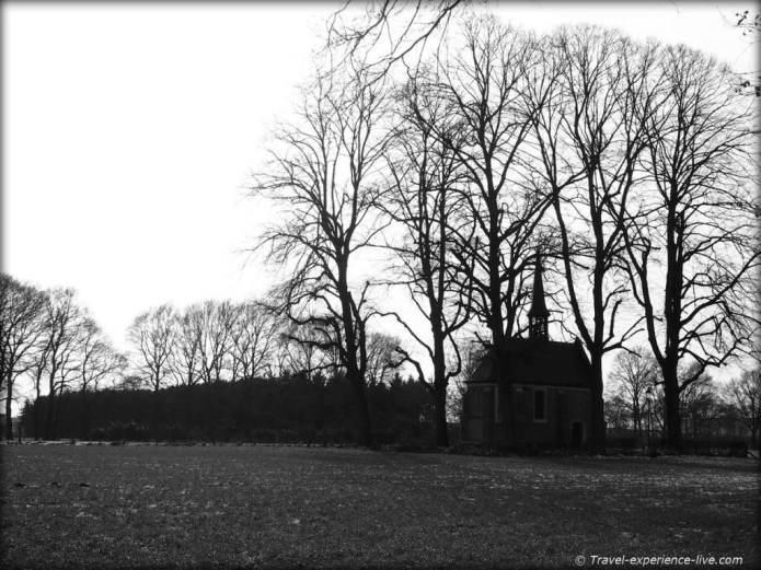 Chapel in the fields in Geel, Belgium.