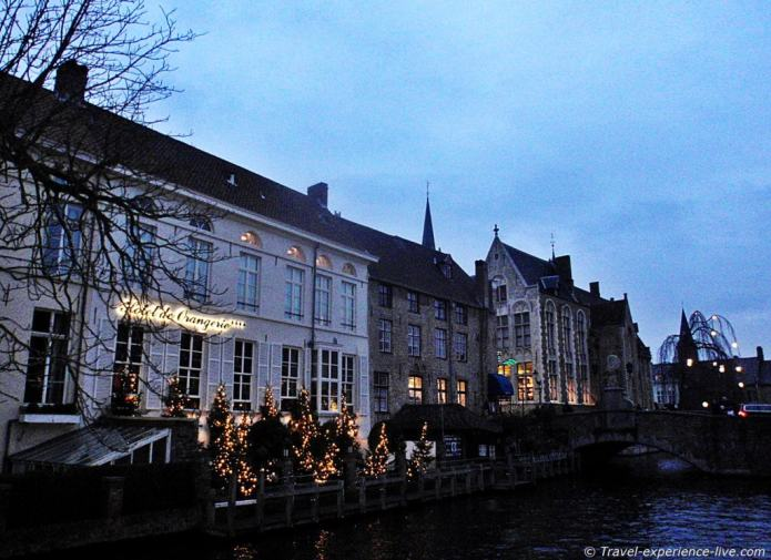 Nightfall in Bruges.