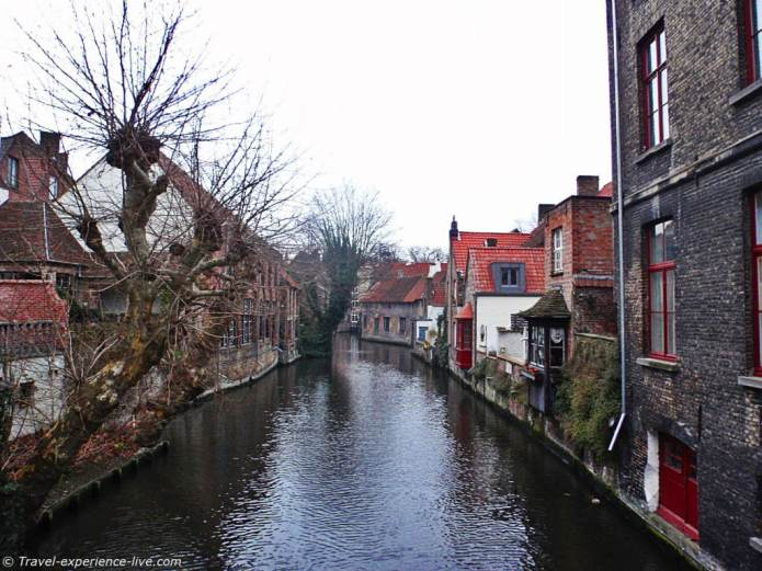 Canal in Bruges.
