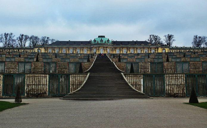 Sanssouci Gardens in Potsdam.