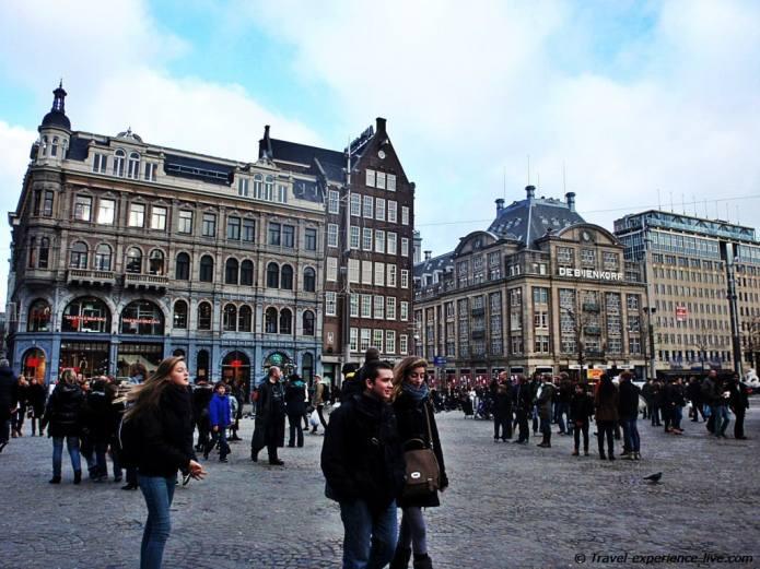 Amsterdam town square.