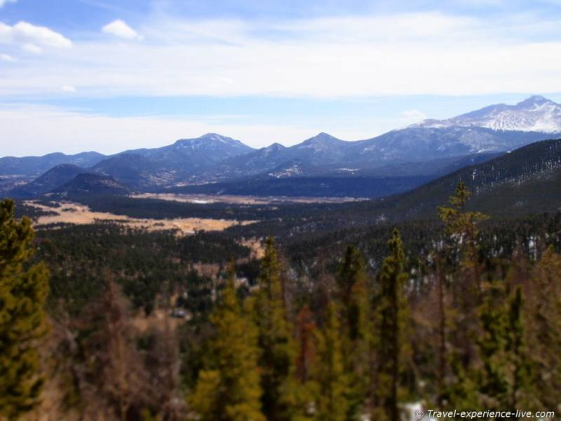 Rocky Mountain National Park lookout.