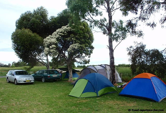 Camping in Shepparton.