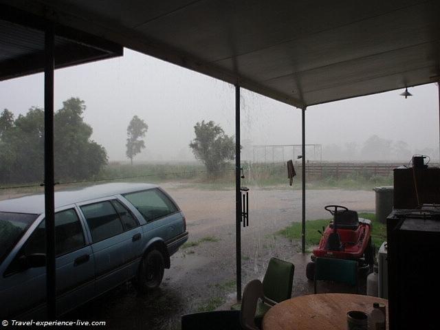 Rain in Australia.