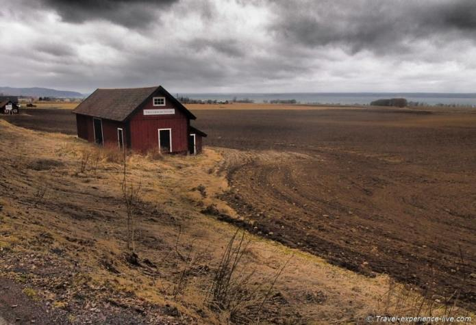 Lonely house in the Swedish fields.