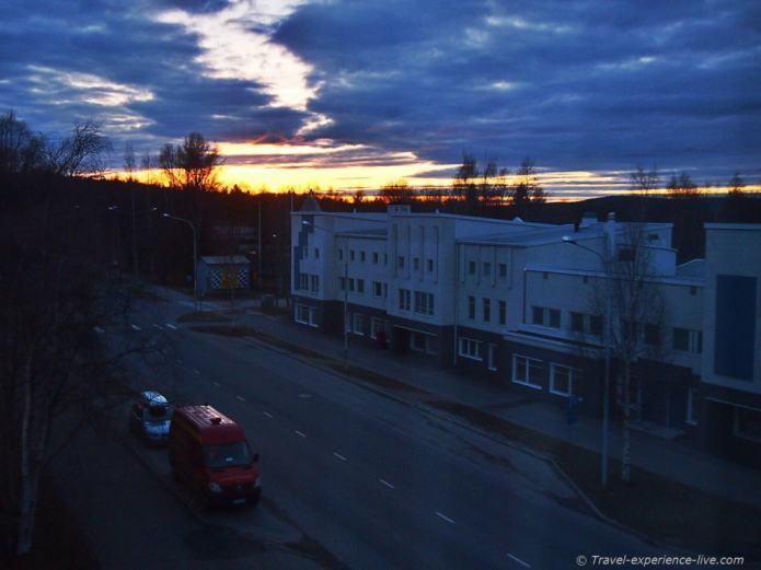 Midnight in Rovaniemi, Finland.