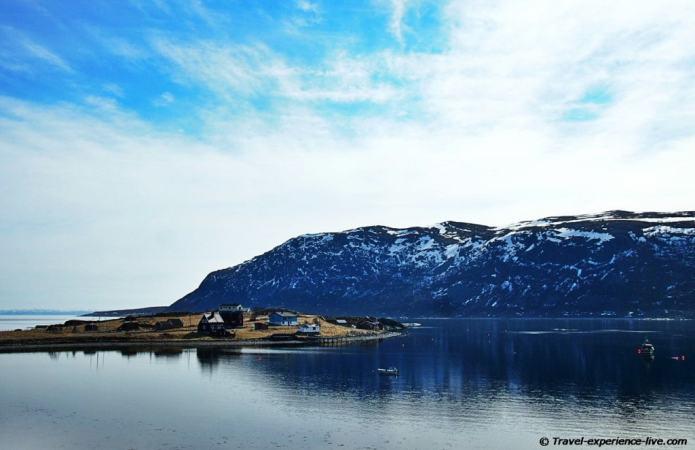 Porsangerfjord in Norway.