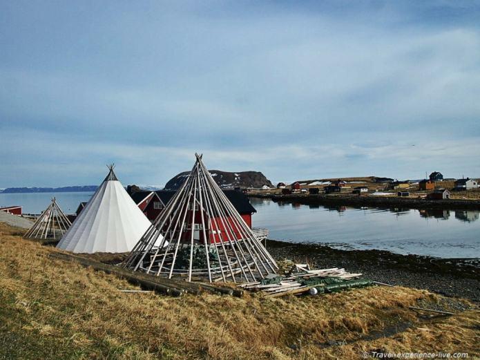 Sami tents in Finnmark.