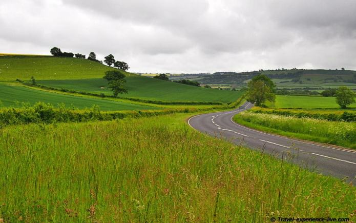 Cycling on English country roads.