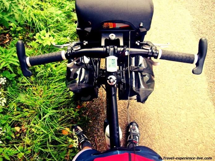 Touring bicycle.