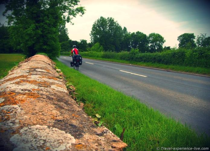Cycle touring in England.