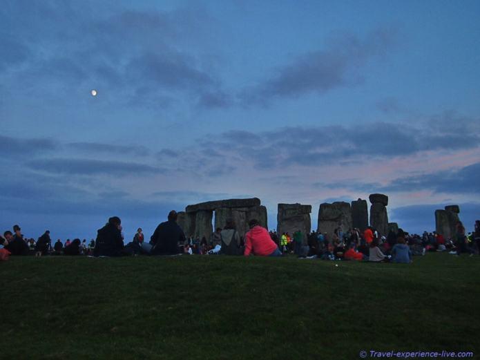 Full moon at Stonehenge.