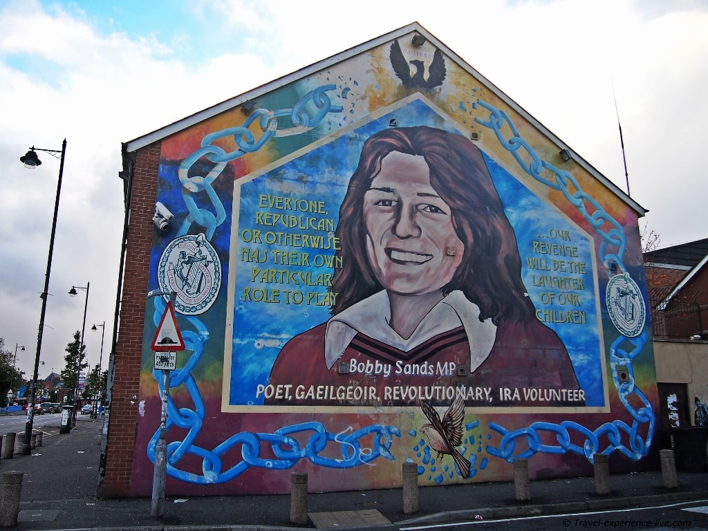 Bobby Sands mural in Belfast.