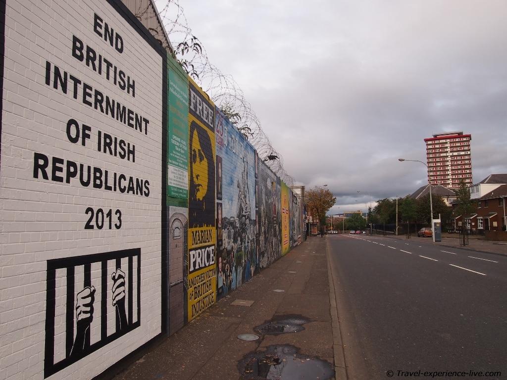 Republican murals on Falls Road, West Belfast