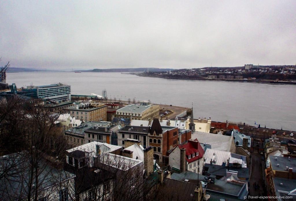 Fleuve Saint-Laurent, Québec City.
