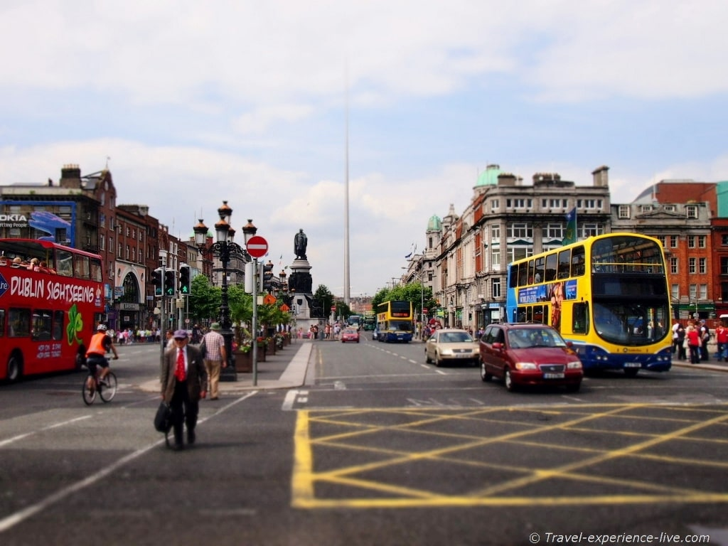 Irish streets: O'Connell Street in Dublin.