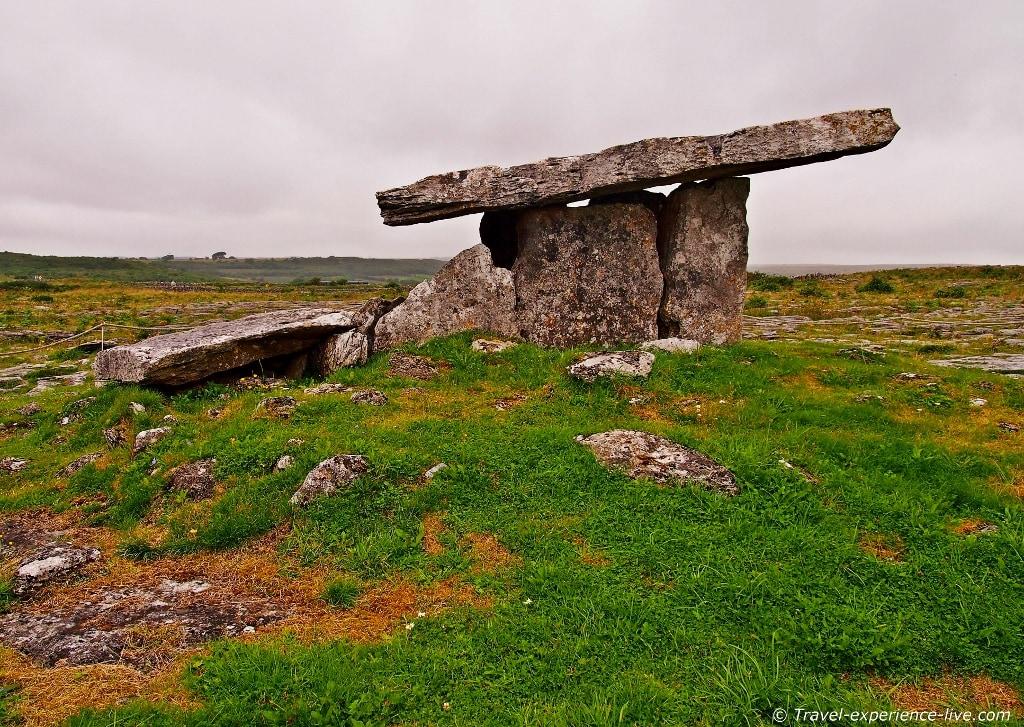 Poulnabrone Dolmen in the Burren, Ireland.