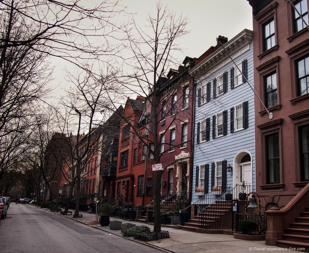 Houses in Brooklyn Heights.