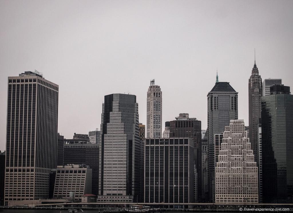 Lower Manhattan skyline from Brooklyn Heights.