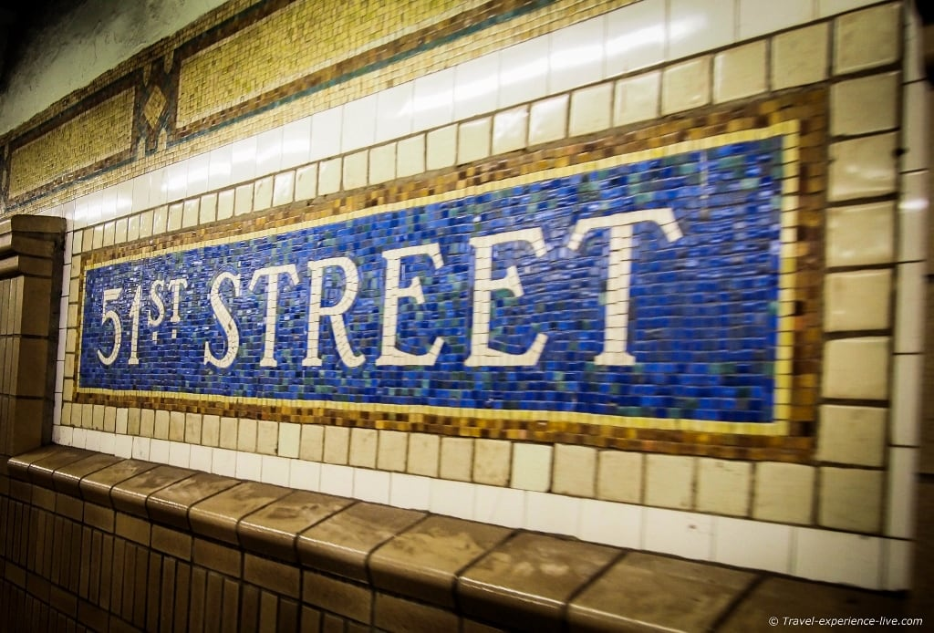 51st Street subway station in New York City.