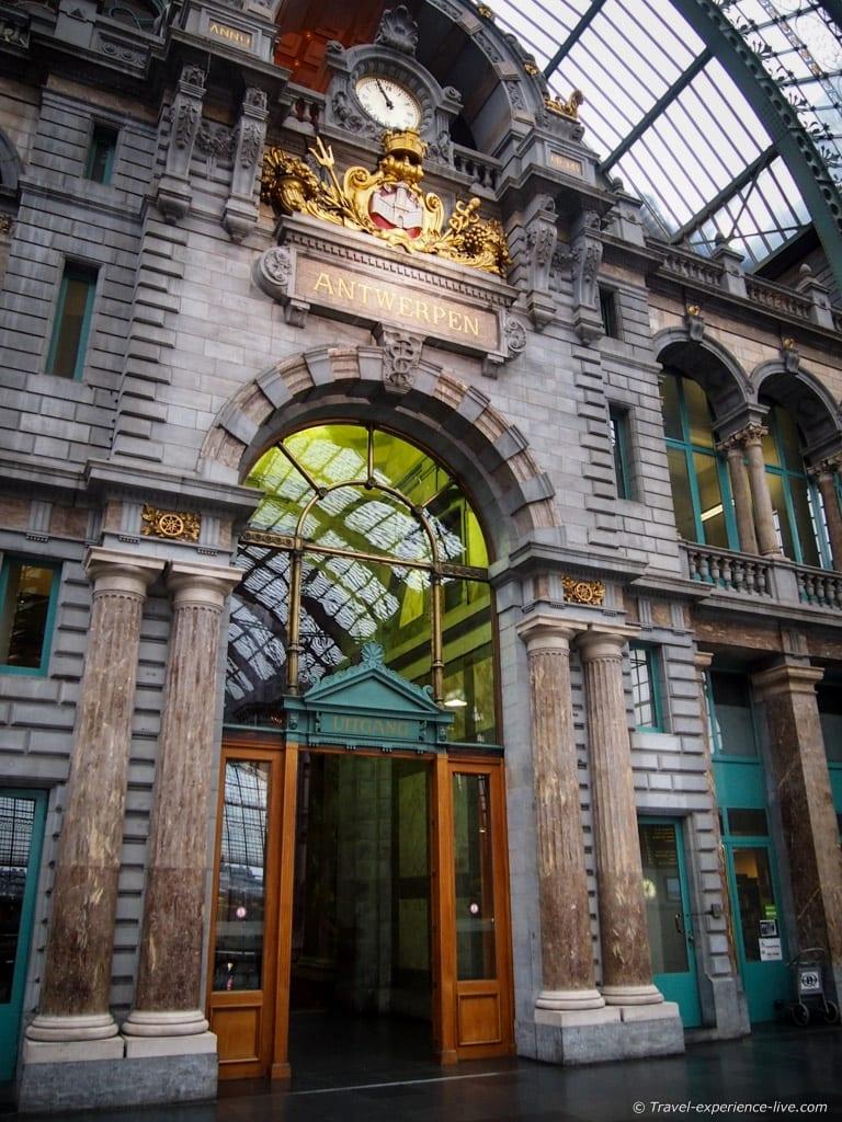 Antwerp Central railway station, Belgium.