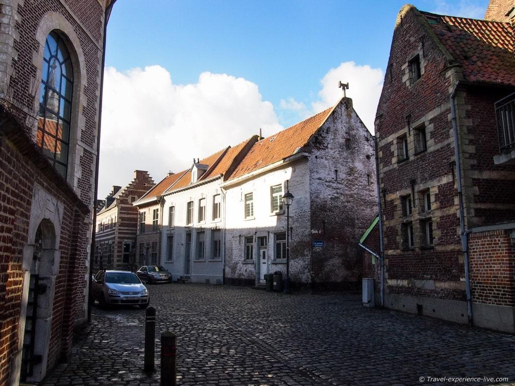 Quiet streets in the Tongeren beguinage, Belgium