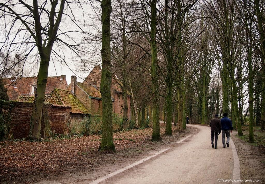 Footpath in Lier, Belgium