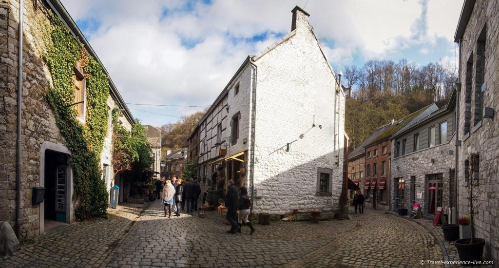 Cobble stone streets in Durbuy, Belgium