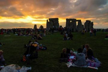 Sunset at Stonehenge, UK