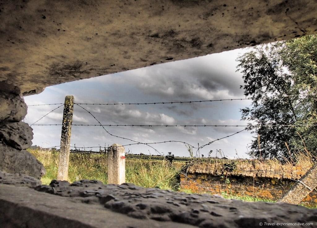 World War One bunker in Flanders fields