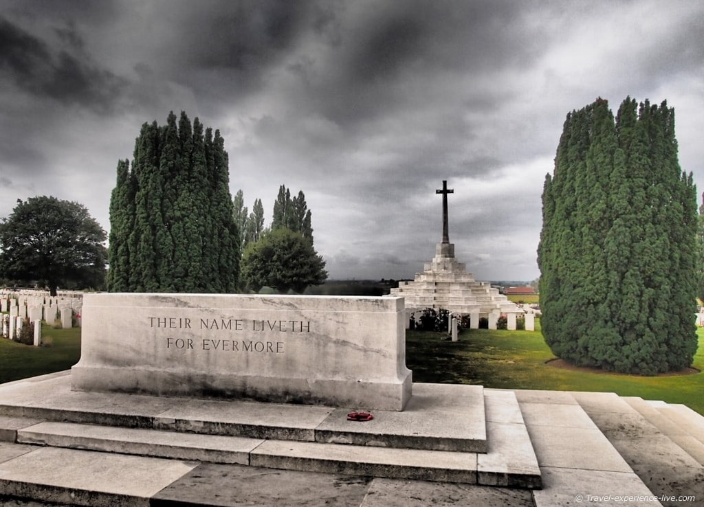 The Cross of Sacrifice at Tyne Cot, Belgium