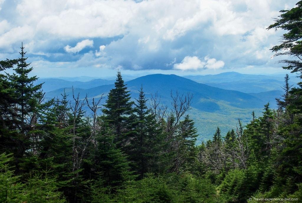 Hiking Mount Moosilauke, NH.