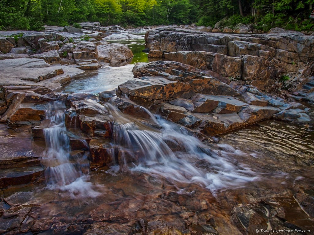Waterfalls on the Kancamagus Highway, NH.