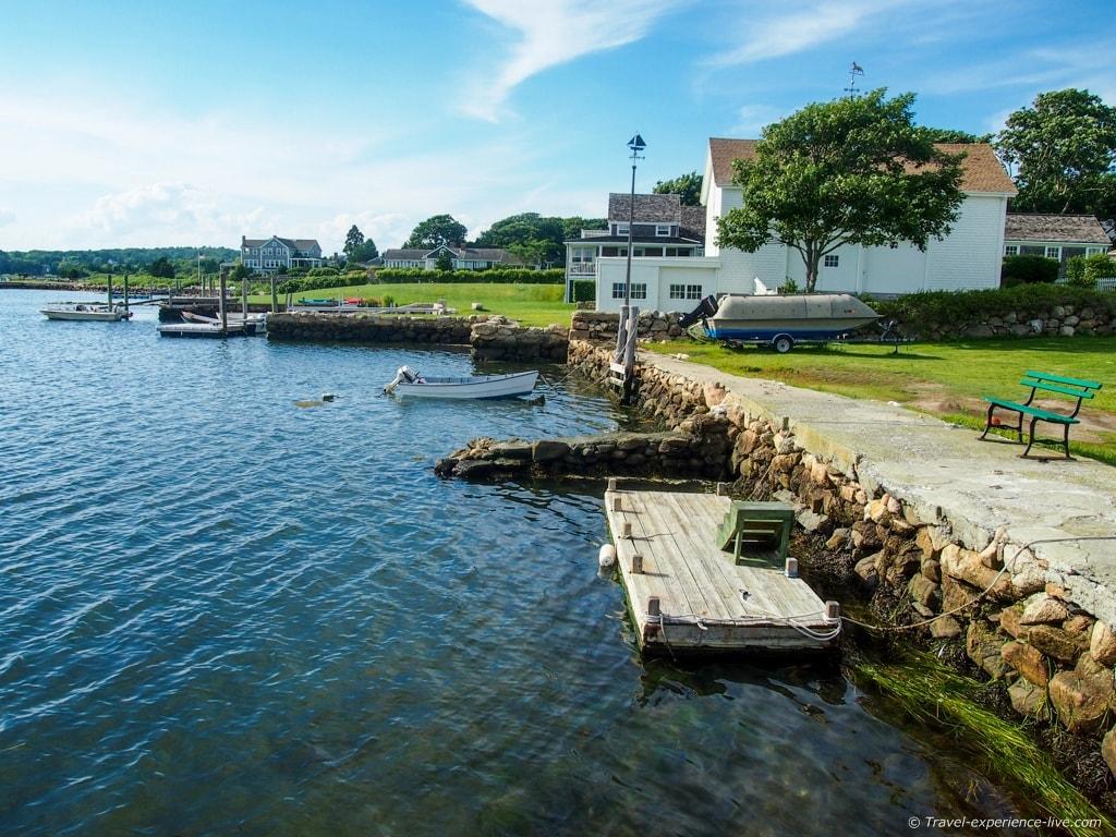 Shoreline of Westport Point, Massachusetts.
