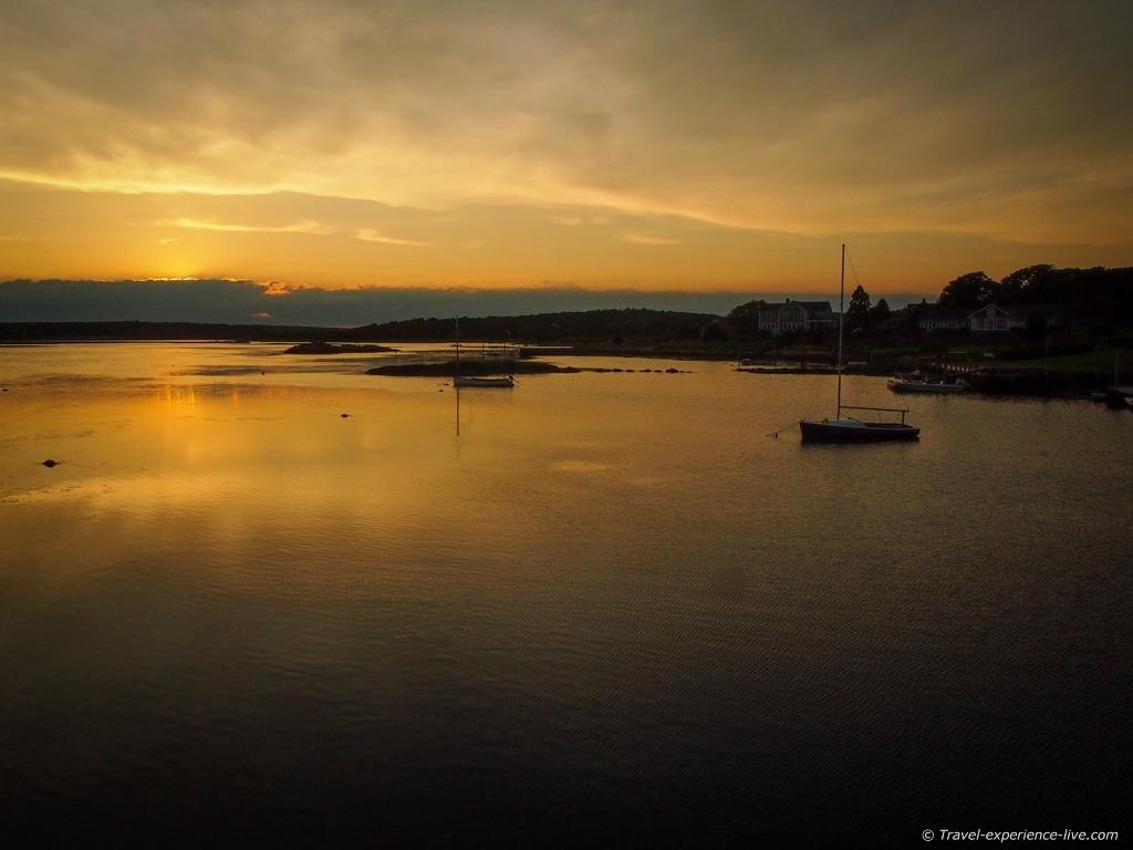 Sunset in historic Westport Point.