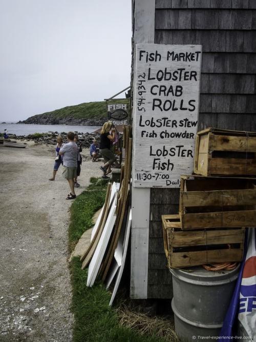 Seafood restaurant on Monhegan Island, Maine.