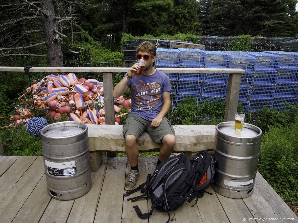 Monhegan Island Brewery, Maine.