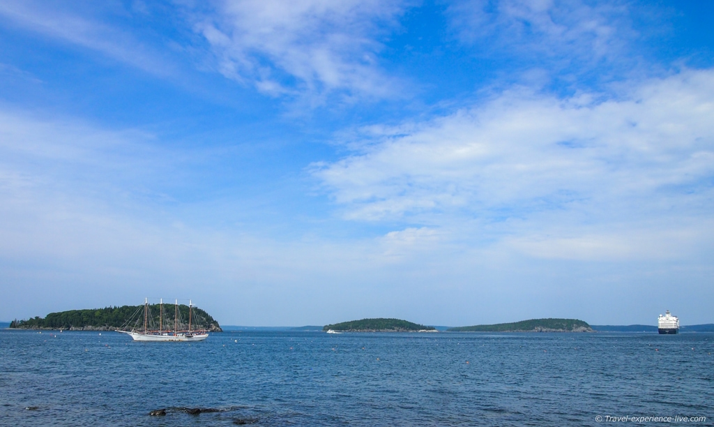 View of Frenchman Bay, Maine.