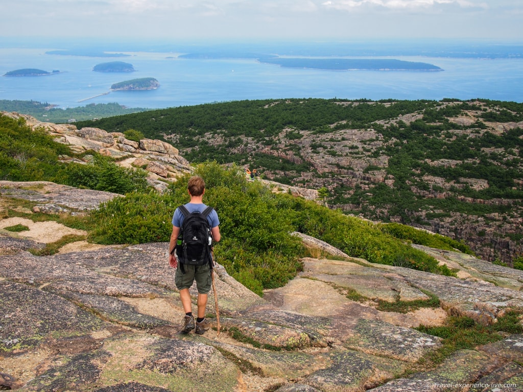 Summit of Cadillac Mountain in Acadia National Park.