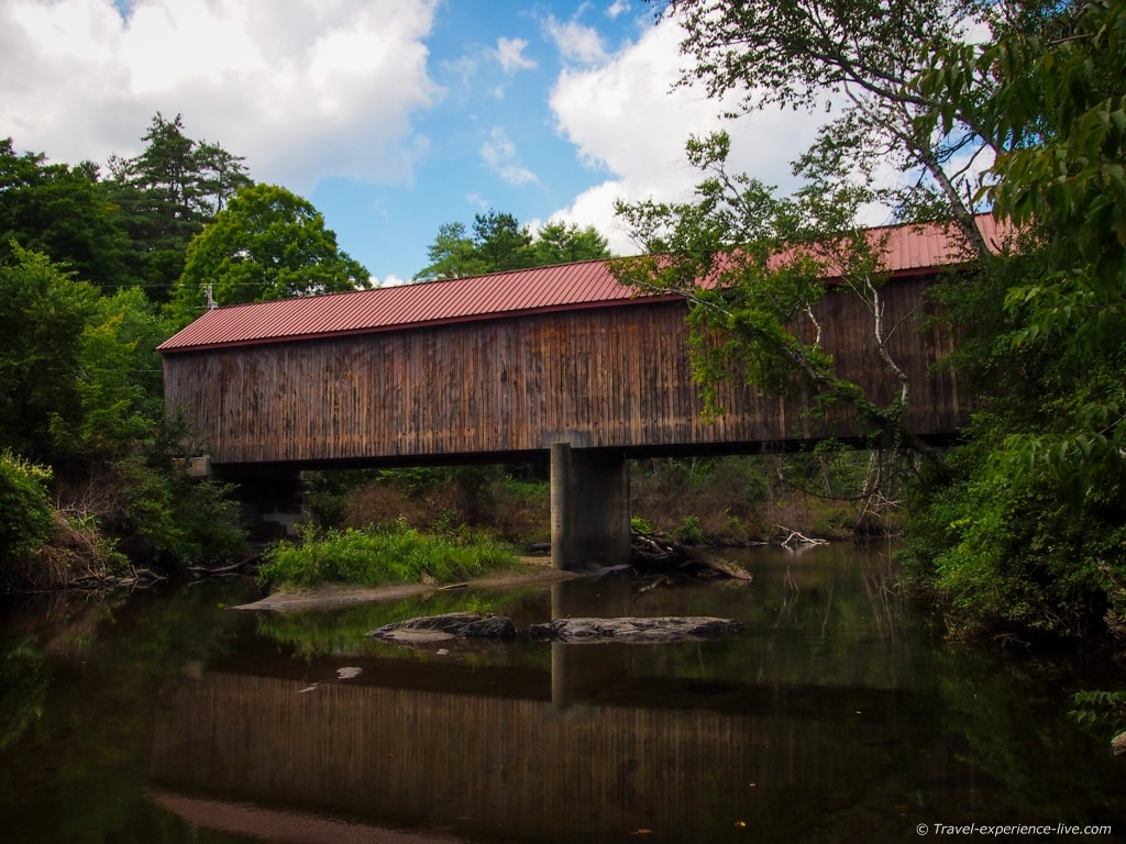 Thetford Center Covered Bridge, Vermont.