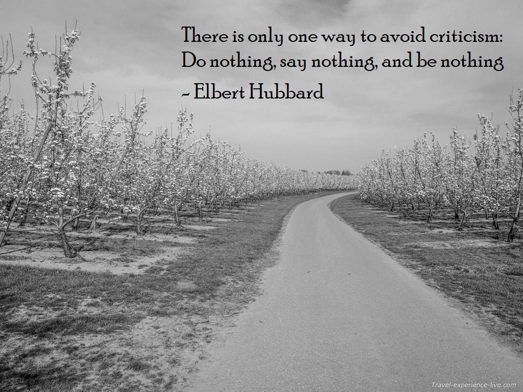 Life Quote by Elbert Hubbard.