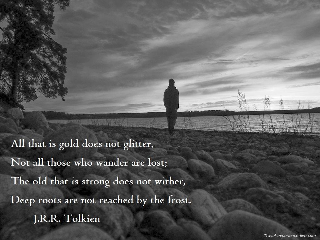 J.R.R. Tolkien quote.