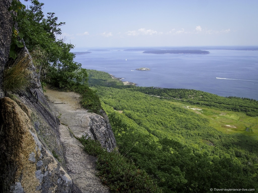 Precipice Trail in Acadia National Park.