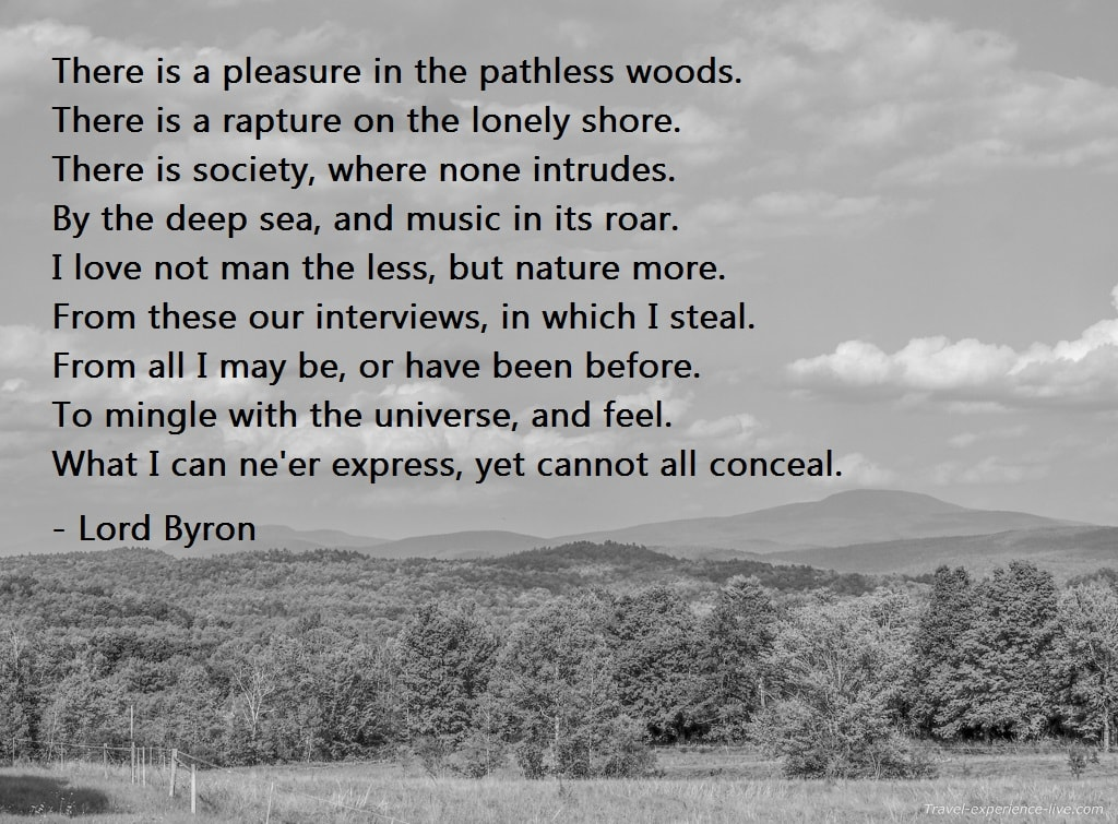 Travel Quote: Lord Byron.