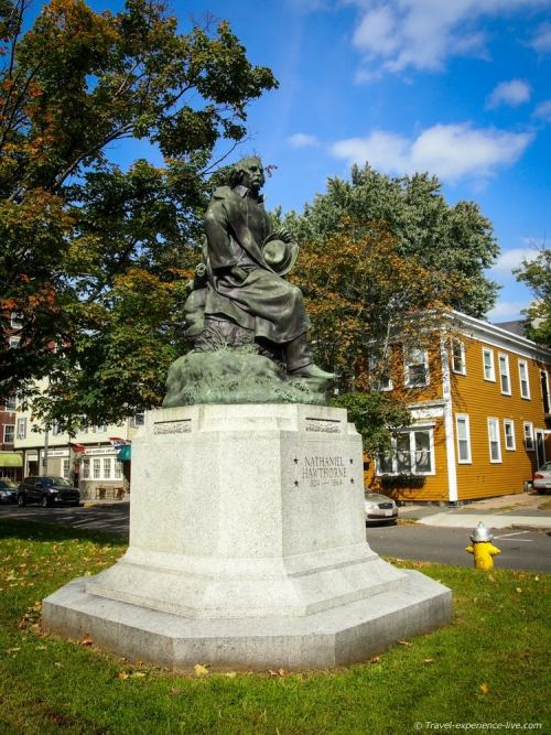 Statue of Nathaniel Hawthorne.