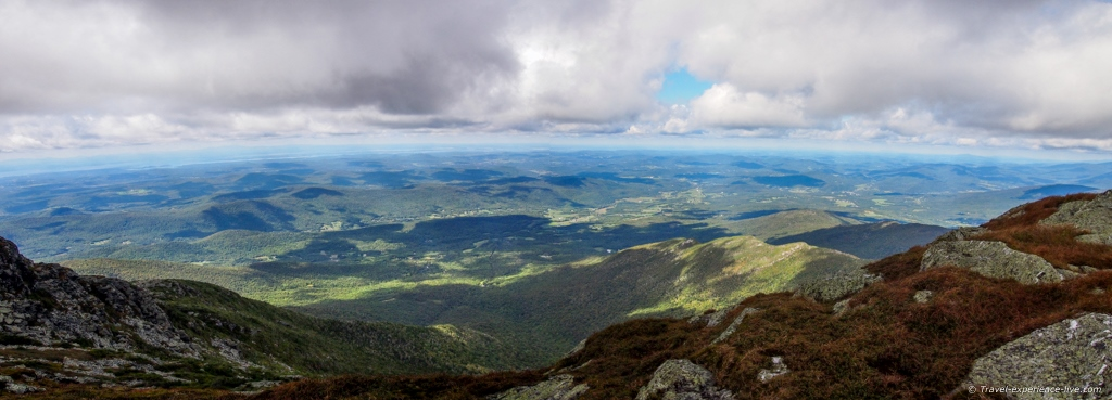 Panorama from Mount Mansfield's summit.