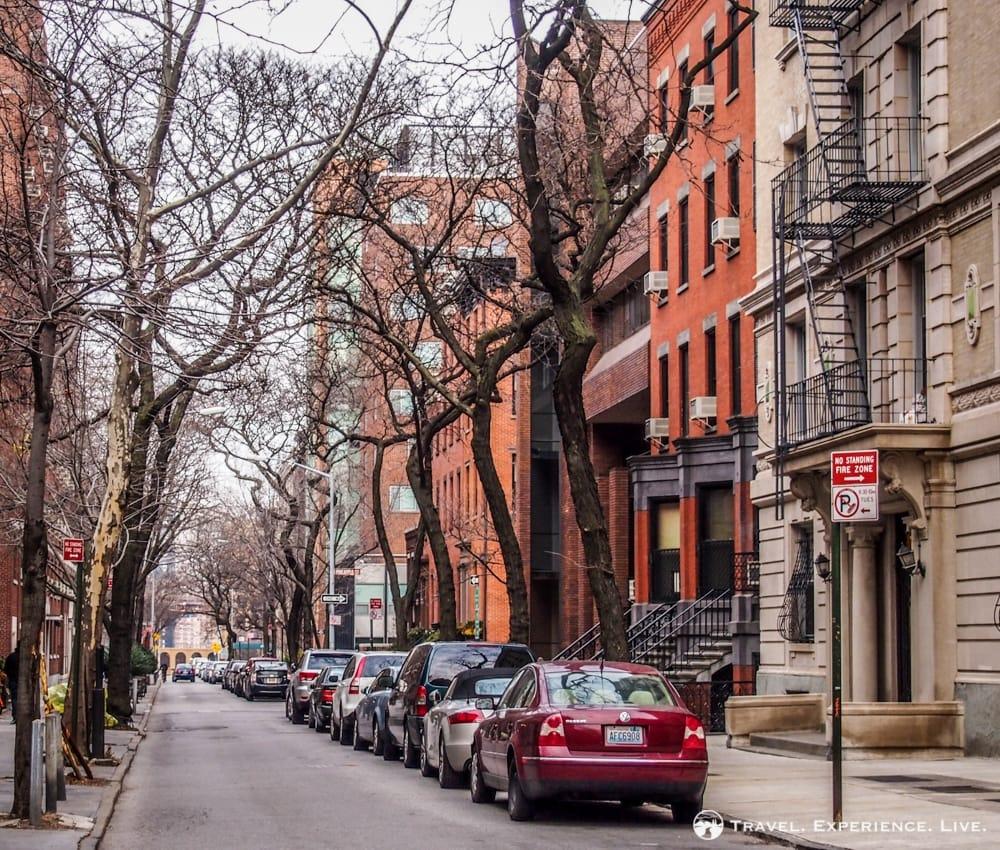Brownstone houses in Brooklyn, New York City