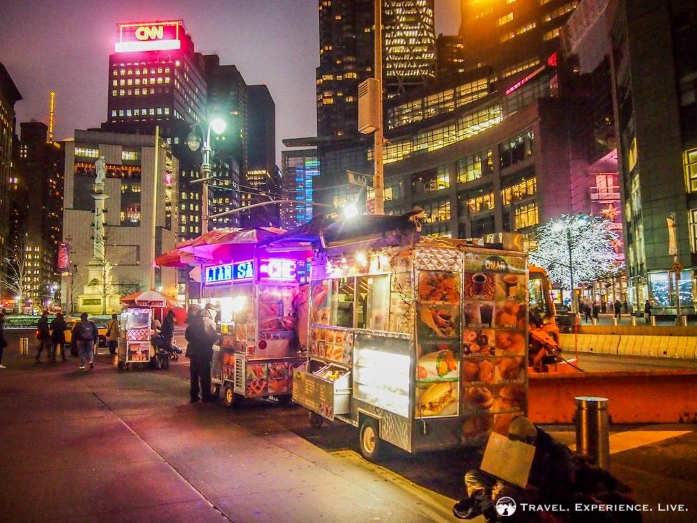 Food stalls in New York City