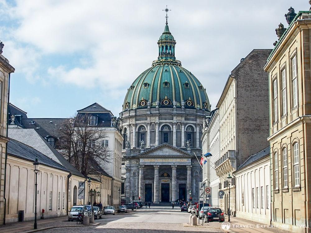 Frederik's Church or Marble Church in central Copenhagen