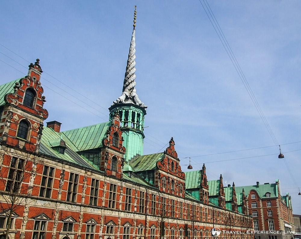 Copenhagen Stock Exchange with the Dragon Spire